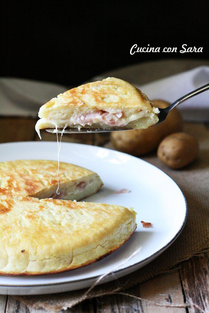Tortino di patate in padella, cucina con sara