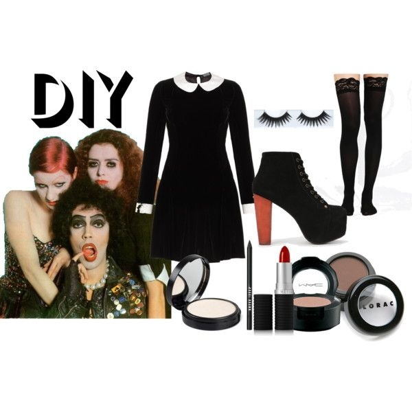 """""""Magenta Rocky Horror Picture Show costume and make-up."""" by venice-queen on Polyvore"""