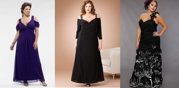 Длинные вечернее платье больших размеров в интернет магазине