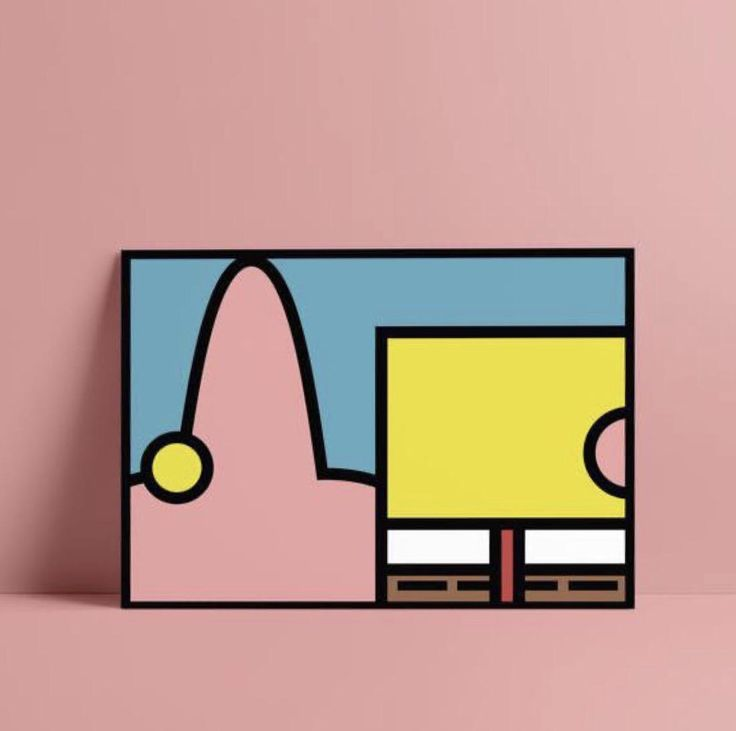 Spongebob and Patrick minimalist. Made in Adobe Illustrator. Small Canvas Paintings, Easy Canvas Art, Small Canvas Art, Cute Paintings, Mini Canvas Art, Canvas Painting Designs, Disney Canvas Art, Easy Canvas Painting, Hippie Painting