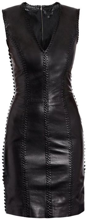 Alexander Mcqueen Leather Dress in Black........ great for going out/date night;)