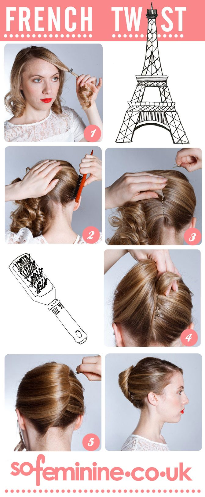 Spoil you locks to a bit of romance. Follow our easy how to do a French Twist guide - et voila!