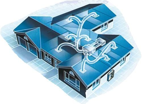 Sistema di distribuzione dell'aria fresca con un condizionatore canalizzato