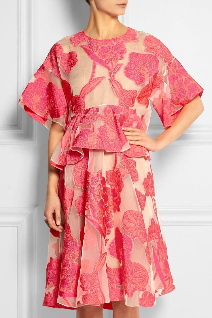 Biyan | Aura embroidered organza dress | NET-A-PORTER.COM