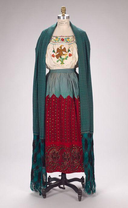 China Poblana dress, c. 1925, Mexico City.