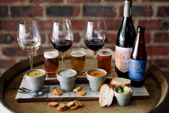 This Winter season; Perdeberg Wines will be taking guests on a delectable soup tasting journey when they introduce their Barrel & Hops Soup Pairing experience. Think rich, creamy, savoury spoonfuls of soup, served with freshly baked bread or crispy croutons on the side, paired with crisp, malty beer and delicious, award-winning wines - Kicking off on 1 June 2017!