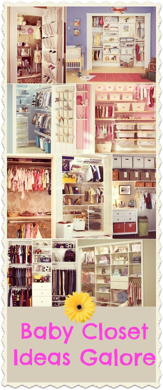 Baby Closet Organizer Ideas Galore! #babycloset #organizer #babyroomideas