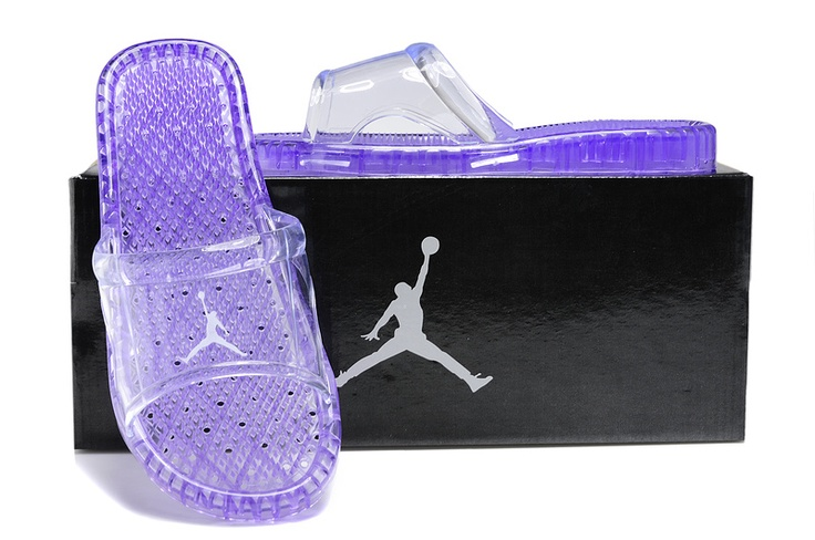 2012 Women Air Jordan Massage Slippers Shoes Purple - cute