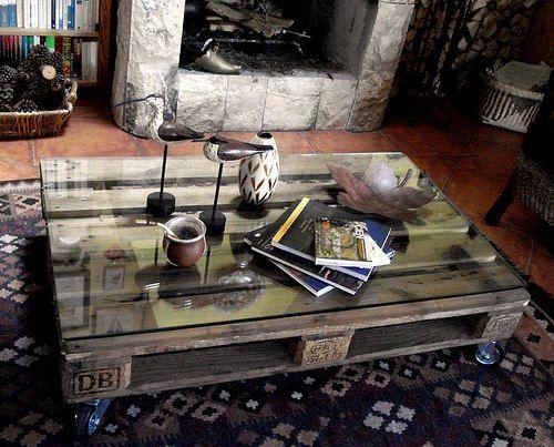 Mesa de centro de un Palette. Creo que es fácil de hacer y se ve muy bien.
