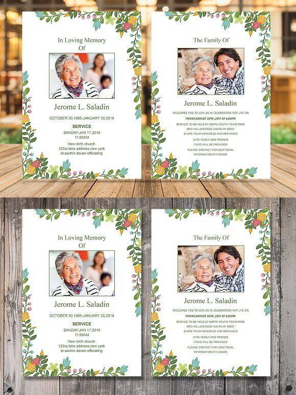 Funeral Invitation or Announcement Invitation Templates - funeral invitation template