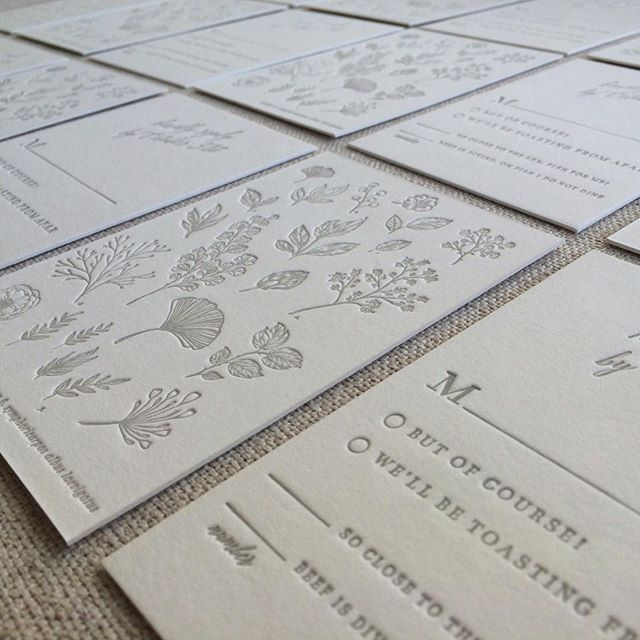 currently: vintage botany inspired wedding suite  #letterpress #wedding #invitations #floral #bespoke #handmade
