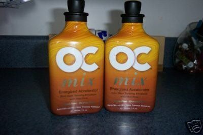 2 Lot New Oc MIX 6xtyrosine Whipped Tanning Lotions 12z by OC/RSun. $36.00. 2-12oz bottles of NEW 2006 RSun's OC MIX ENERGINZING 6X ACCLERERATOR WITH MAX FIRMING. Energizing - Dark Tanning Results are enhanced by the surge of energy and oxygen to your skin during the tanning process. Super Accelerating - Six potent Tyrosine derivatives enhance your ability to tan while maximizing UV absorption. Max-Firm Anti-Cellulite/Skin Firming - Helps reduce the appearance of fine ...