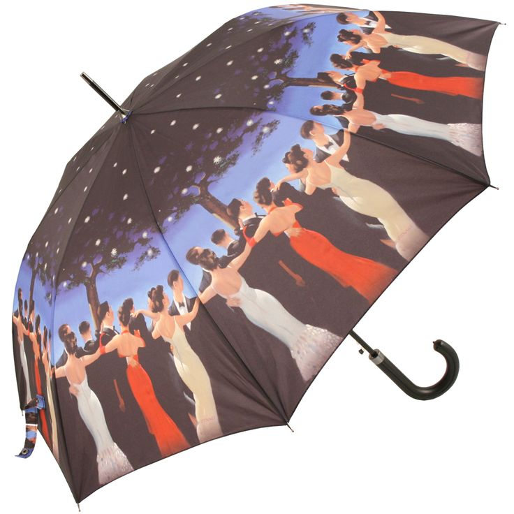 Jack Vettriano Auto Opening Walking Length Umbrella - The Waltzers - Brolliesgalore