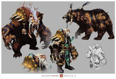 Dota 2 Lone Druid Concept Art   Neutral Creeps - Dota 2 News From Around The World
