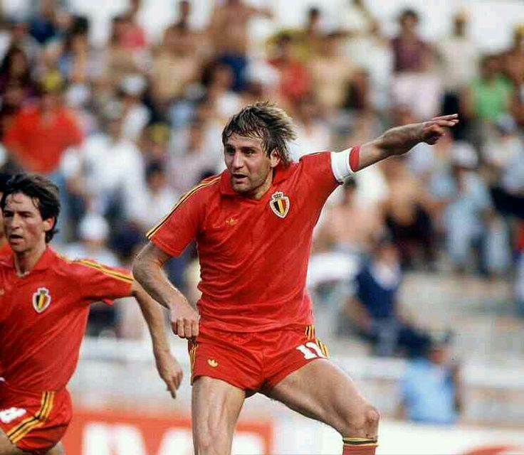 Belgium 4 USSR 3 in 1986 in Leon. Jan Ceulemans fires in a goal on 77 minutes and its 2-2 in Round 2 at the World Cup Finals.