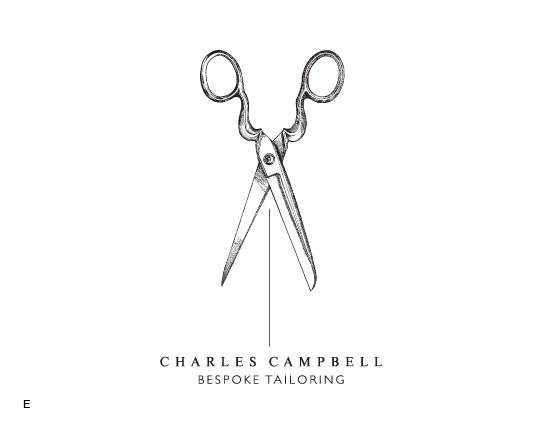 Logo - Charles Campbell Tailoring, Tea Cake Design