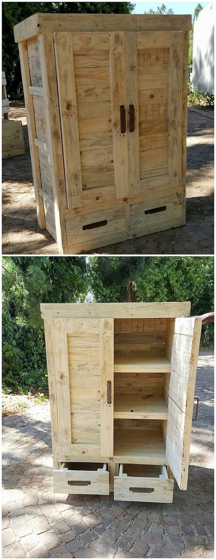 Best 25 wooden pallet furniture ideas only on pinterest for What to make out of those old wood pallets