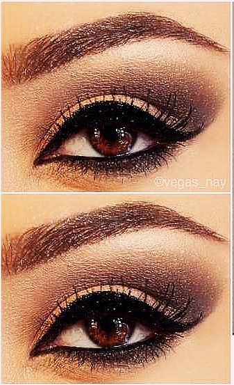 Eye make up for brown eyes (naked 2 palate)    Visit my site Real Techniques brushes makeup -$10 http://youtu.be/PQZ9X6r5O7M   #realtechniques #realtechniquesbrushes #makeup #makeupbrushes #makeupartist