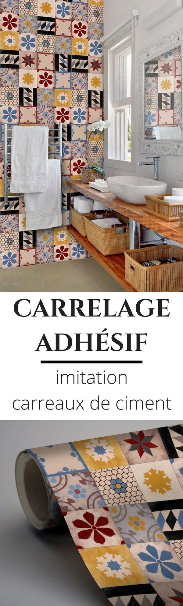 Trends Diy Decor Ideas : Du carrelage adhésif à coller au mur ou au sol pour imiter le look des carreau...  https://diypick.com/decoration/trends-diy-decor-ideas-du-carrelage-adhesif-a-coller-au-mur-ou-au-sol-pour-imiter-le-look-des-carreau/