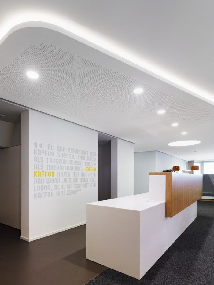 208 best front office images on pinterest creative for Office reception design