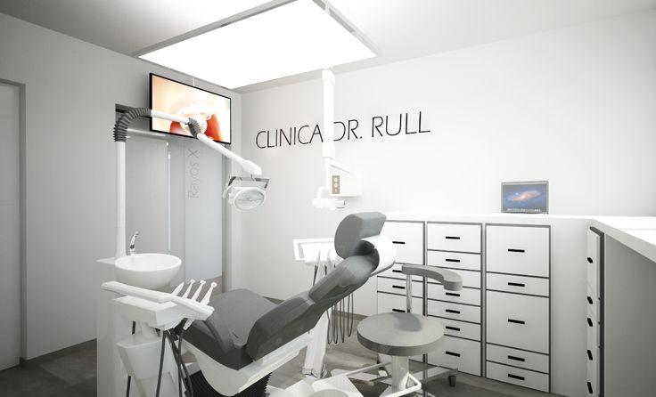 Diseño de Clínica Odontológica en Ibiza. Se trata de la reprogramación y adecuación de una clínica preexistente a clínica de Odontología.