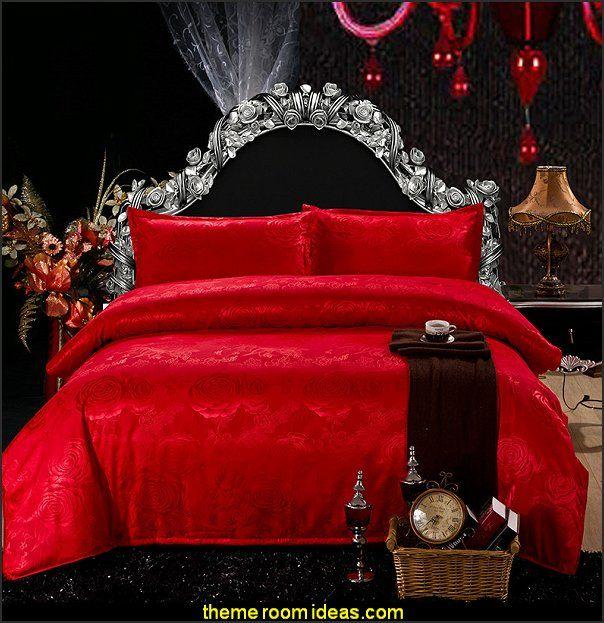 Red Rose Bed Linen Romantic Bedspread Romantic Bedroom Ideas Romantic Bedroom Decorating Ideas Romantic Duvet Bedding Sets Bed Linens Luxury Red Bedding Sets