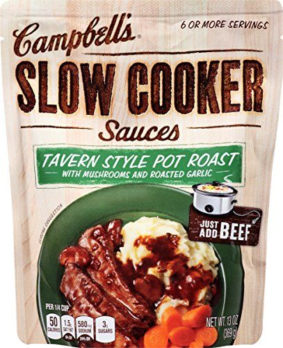Campbells Slow Cooker Sauces Tavern Style Pot Roast 13 Ounce Pack of 6 * Details can be found by clicking on the image.Note:It is affiliate link to Amazon.