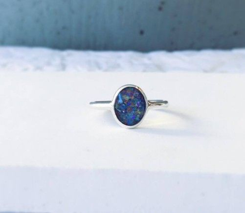 The Mermaid ring with opal 014