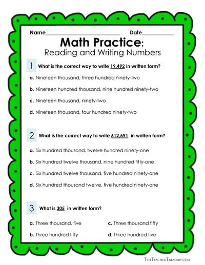 22 Best Math Worksheets Images On Pinterest Writing Numbers