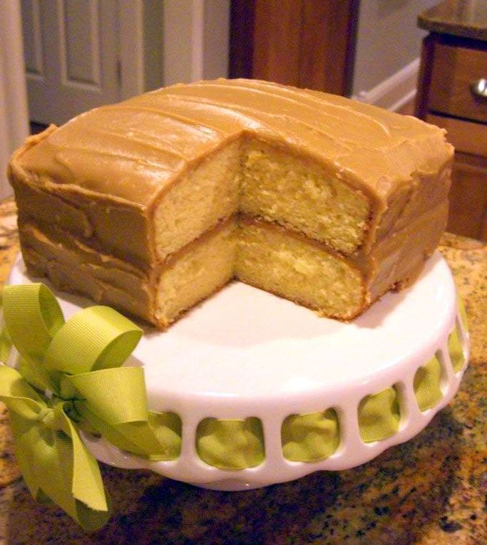 Caramel Cake. Used to be one of my favorite outta the box mixes but they quit selling the brand. woooowoo now i get to have it again