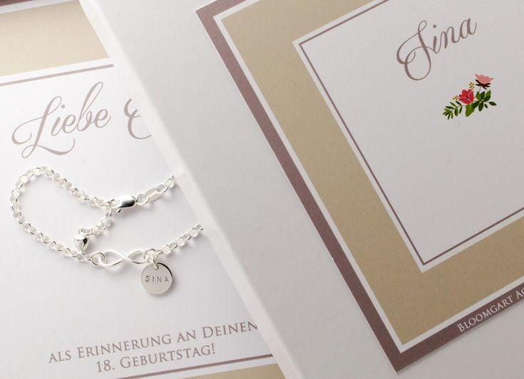 Namensketten - Infinity 925 Silber Armband Gravur Namensarmband - ein Designerstück von Bloomgart bei DaWanda