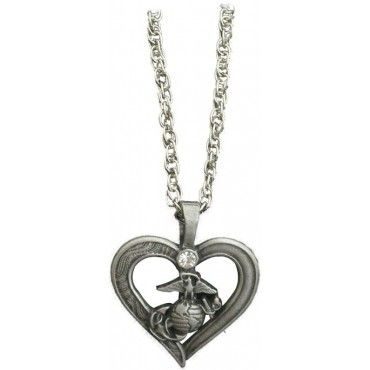 112 best rings and necklaces images on pinterest marine corps womens heart with eagle globe and anchor pewter necklace womens necklaces jewelry aloadofball Images