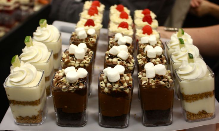 Individual Desserts In Shooter Glasses Party Ideas In