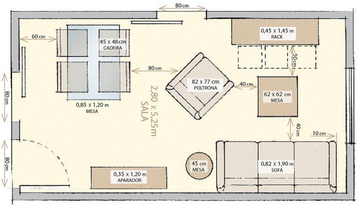 As metragens mínimas para sala, quarto, cozinha e banheiro  Circulação: especialistas apontam as metragens mínimas para garantir a melhor di...
