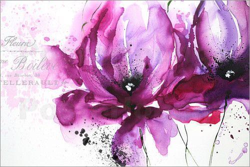 Isabelle Zacher-Finet - Violet Flower