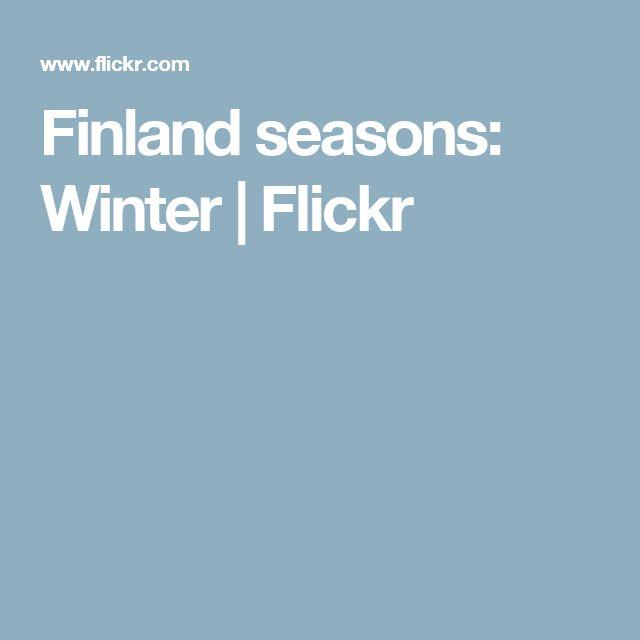 Finland seasons: Winter | Flickr