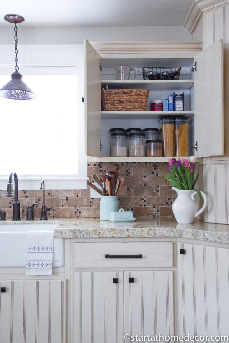 spring organization functional and pretty home decor kitchen cabinets diy home decor on kitchen decor organization id=51726