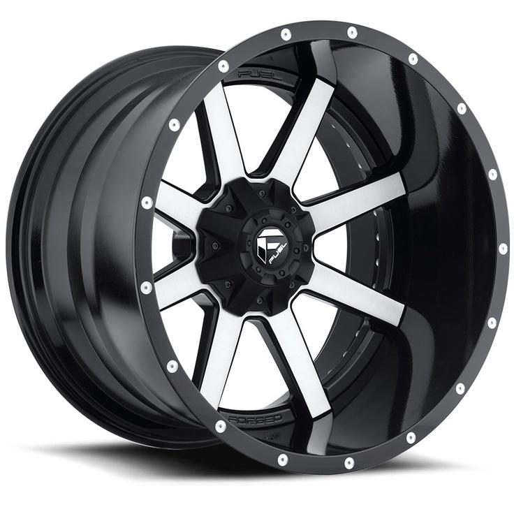 Xd Rims For Jeep Wrangler D261 - Maverick Black & Machined - Fuel Off-Road Wheels ...