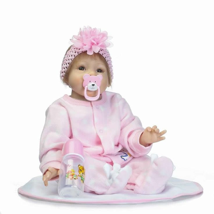 83.99$  Watch now - http://ali14w.shopchina.info/1/go.php?t=32814697062 - 22'' Real Looking Baby Dolls Soft Silicone Girl 55 cm Realistic Reborn Dolls For Sale With Magnetic Pacifier Kids Birthday Gifts  #magazineonlinebeautiful