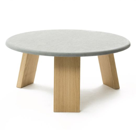 Maya table, oak and sandstone. Design: Lars Beller Fjetland.