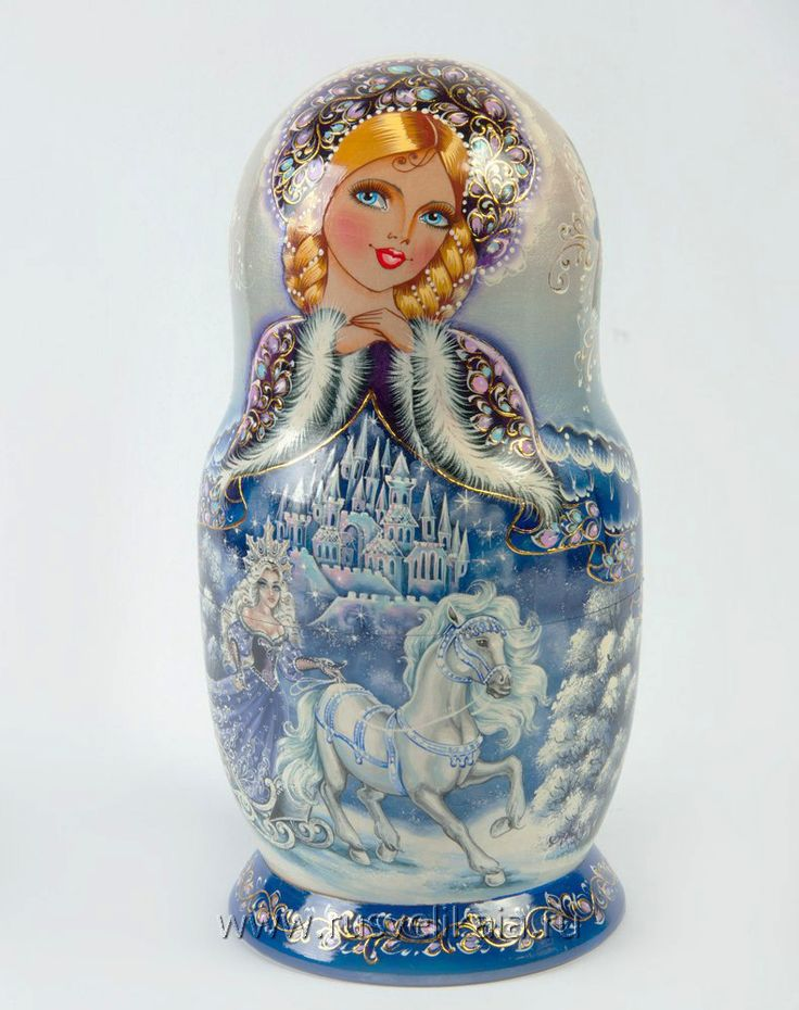 МатрешкаMatryoshka - Russian nesting doll.More Pins Like This At FOSTERGINGER @ Pinterest
