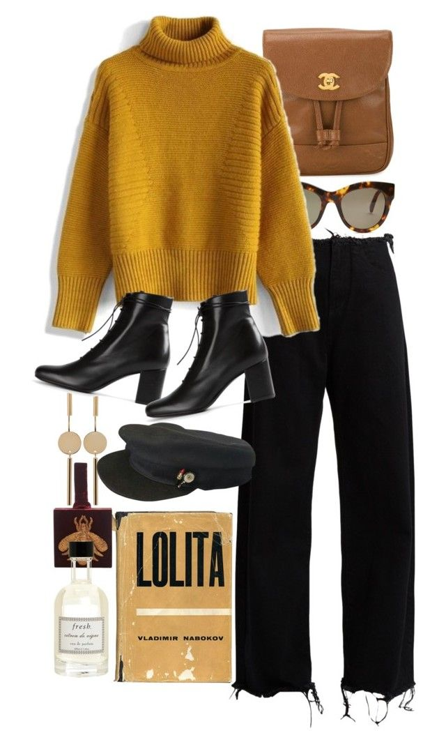 """""""Untitled #10206"""" by nikka-phillips ❤ liked on Polyvore featuring Chanel, STELLA McCARTNEY, Marques'Almeida, Isabel Marant, Chicwish, Yves Saint Laurent, Sanayi 313 and Fresh"""