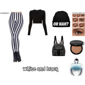 """""""white and black"""" by jessicadawson0705 on Polyvore"""