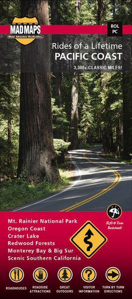 ROLPC </br>Rides of a Lifetime Road Trip Map </br>ROL Pacific Coast