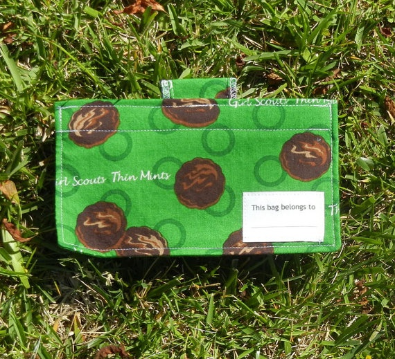Go Snack Girl Scouts Thin Mint Cookies by ohsewsandy on Etsy, $5.50: Scout Stuff, Girl Scouts, Scout Ideas, Scouts Thin, Snack Girl, Snack Bags, Girl Y Scouts