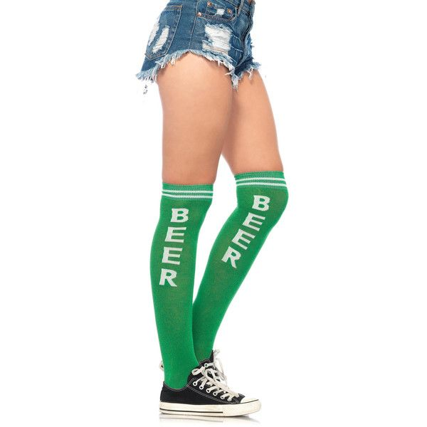 Women's Leg Avenue Fun Drinking SocksBeer/Green ($8.99) ❤ liked on Polyvore featuring intimates, hosiery, socks, green, socks & hosiery, colorful socks, multi colored socks, green hosiery, multi color socks and patterned socks