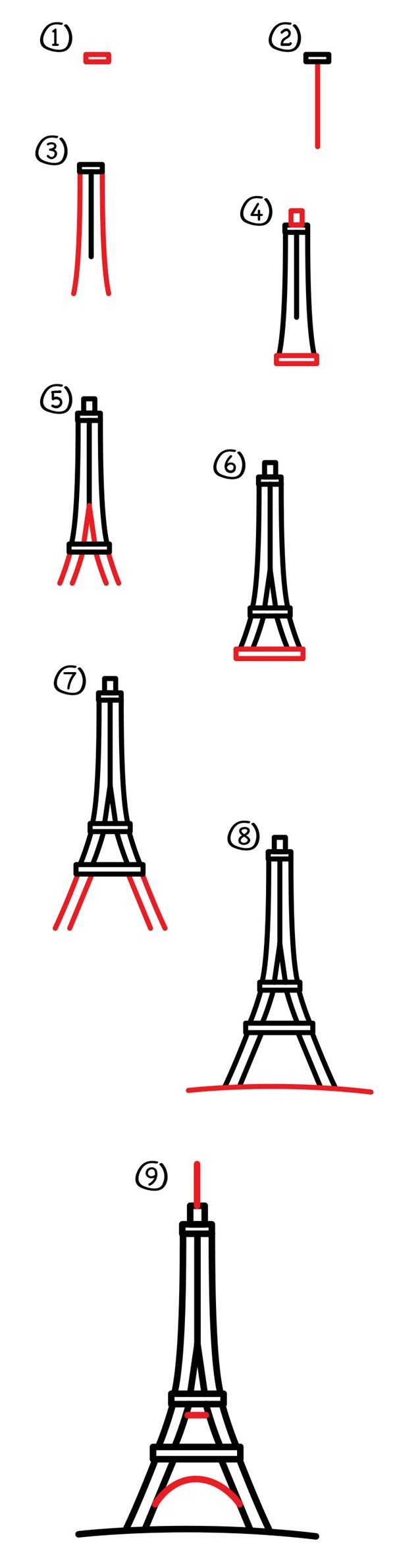 Your Eiffel tower drawing and sketches can be shared to social media or you can frame them and gift them to the people you want to.