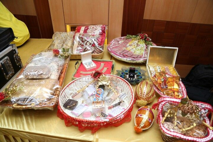 Trousseau... Groom side things for the Bride... Engagament.. Gujju engagment rituals..