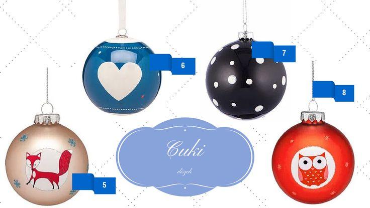 Cuki karácsonyi gömbök