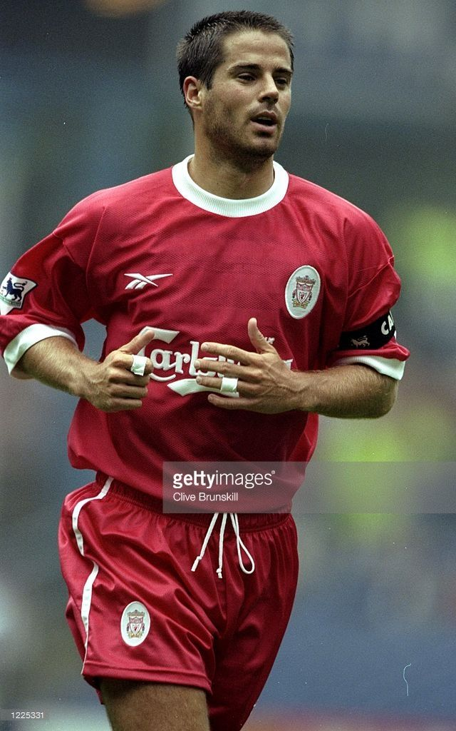 Jamie Redknapp of Liverpool in action during the FA Carling Premiership match against Sheffield Wednesday played at Hillsborough in Sheffield, England. The match finished in a 2-1 win to Liverpool. \ Mandatory Credit: Clive Brunskill /Allsport
